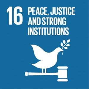 Peace, Justice and Strong Instituitions logo